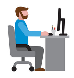 man in office workplace icon vector image
