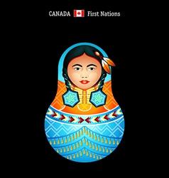 Matryoshka Canada vector image