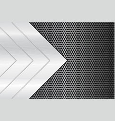 metal perforated background with steel triangle vector image