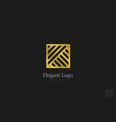 minimalistic elegant logo luxury emblem template vector image