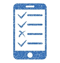 Mobile Tasks Grainy Texture Icon vector