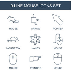 Mouse icons vector