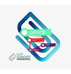 office clip infographic concept vector image
