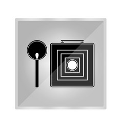 old camera icon vector image