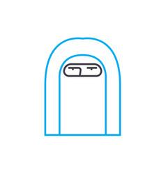 paranja linear icon concept paranja line vector image