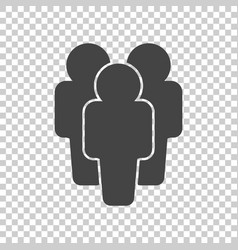 People icon flat vector
