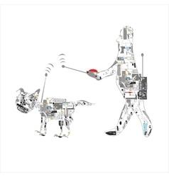 Pet Wirelss Control vector image