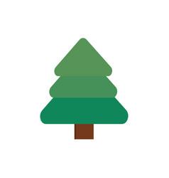 Pine tree decoration happy christmas icon vector