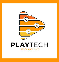play tech logo vector image