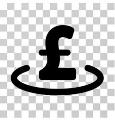 Pound location icon vector