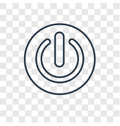 Power concept linear icon isolated on transparent vector