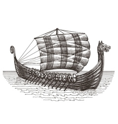 retro ship logo design template boat or vector image