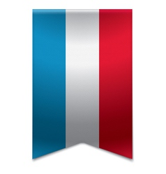 Ribbon banner - flag of luxembourg vector image