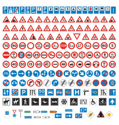 road signs and symbols set vector image