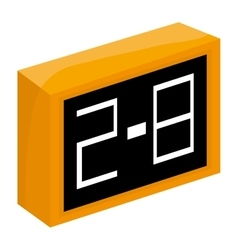 Scoreboard icon yellow black vector
