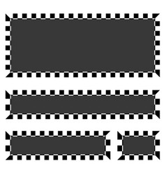 Set of blank banners plaques with checkered vector