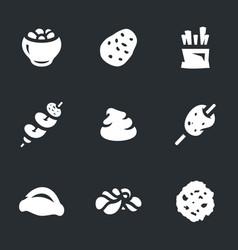 Set potato icons vector