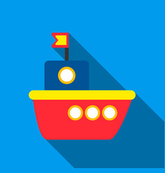 Ship flate icon for web and mobile vector