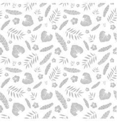 silver grey tropical summer hawaiian vector image
