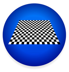 Simple icon with checkered plane - checkerboard vector