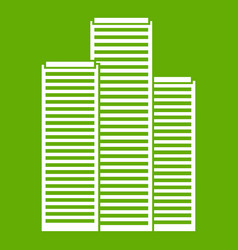 skyscrapers in singapore icon green vector image