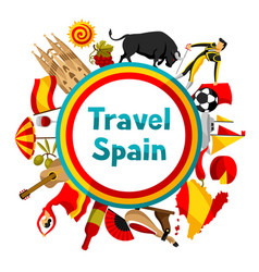 Spain background design spanish traditional vector