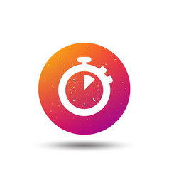 stopwatch icon timer or clock device sign vector image
