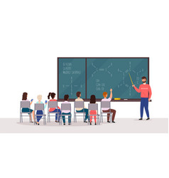 students at lecture professor speaks in audience vector image