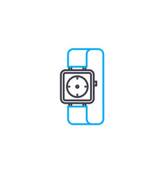 time management thin line stroke icon time vector image