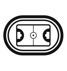 Top hockey field icon simple style vector