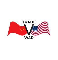 Trade war usa china graphic design template vector