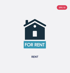 Two color rent icon from real estate concept vector