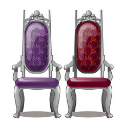 two of the royal throne isolated on white vector image