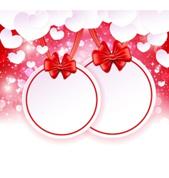 Two paper banner with bows vector image