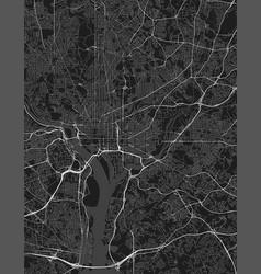 urban city map washington dc district of vector image