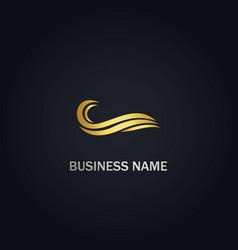 wave ocean water logo vector image