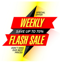 Weekly flash sale banner design template vector