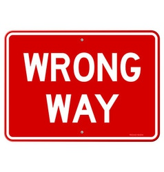 Wrong Way Sign vector image