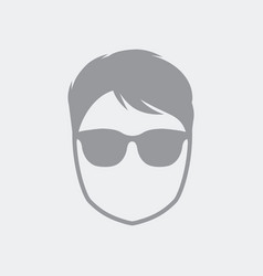 young avatar face with sunglasses vector image