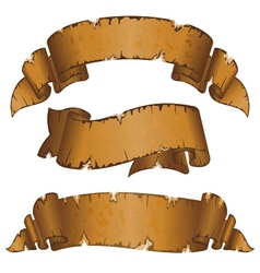 collection different dirty old ribbon with ragged vector image vector image