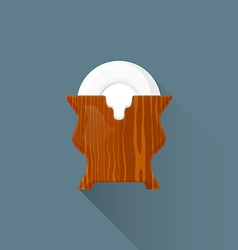 flat asian tea saucers stand icon vector image