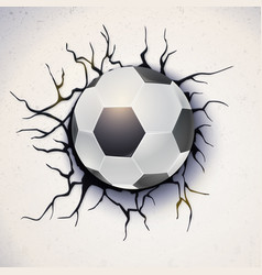 football ball on the background of a broken-down vector image