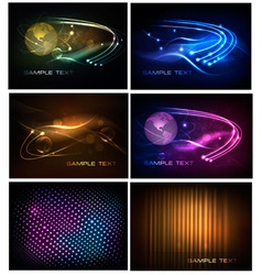 big set of abstract technology backgrounds vector image vector image
