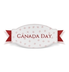 Canada Day festive Banner with Text and Ribbon vector image