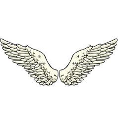 cartoon doodle wings vector image