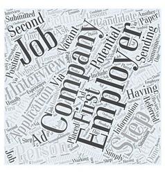 Job interview faqs dlvy nicheblowercom word cloud vector