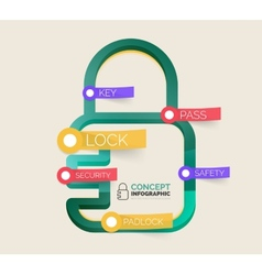lock icon infographic concept vector image