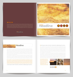 Template booklet design - cover and inside pages vector image vector image