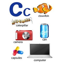 Things that start with the letter c vector