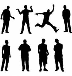8 men vector image